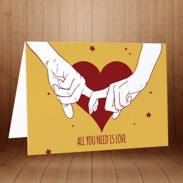 کارت پستال عاشقانه کد 3590