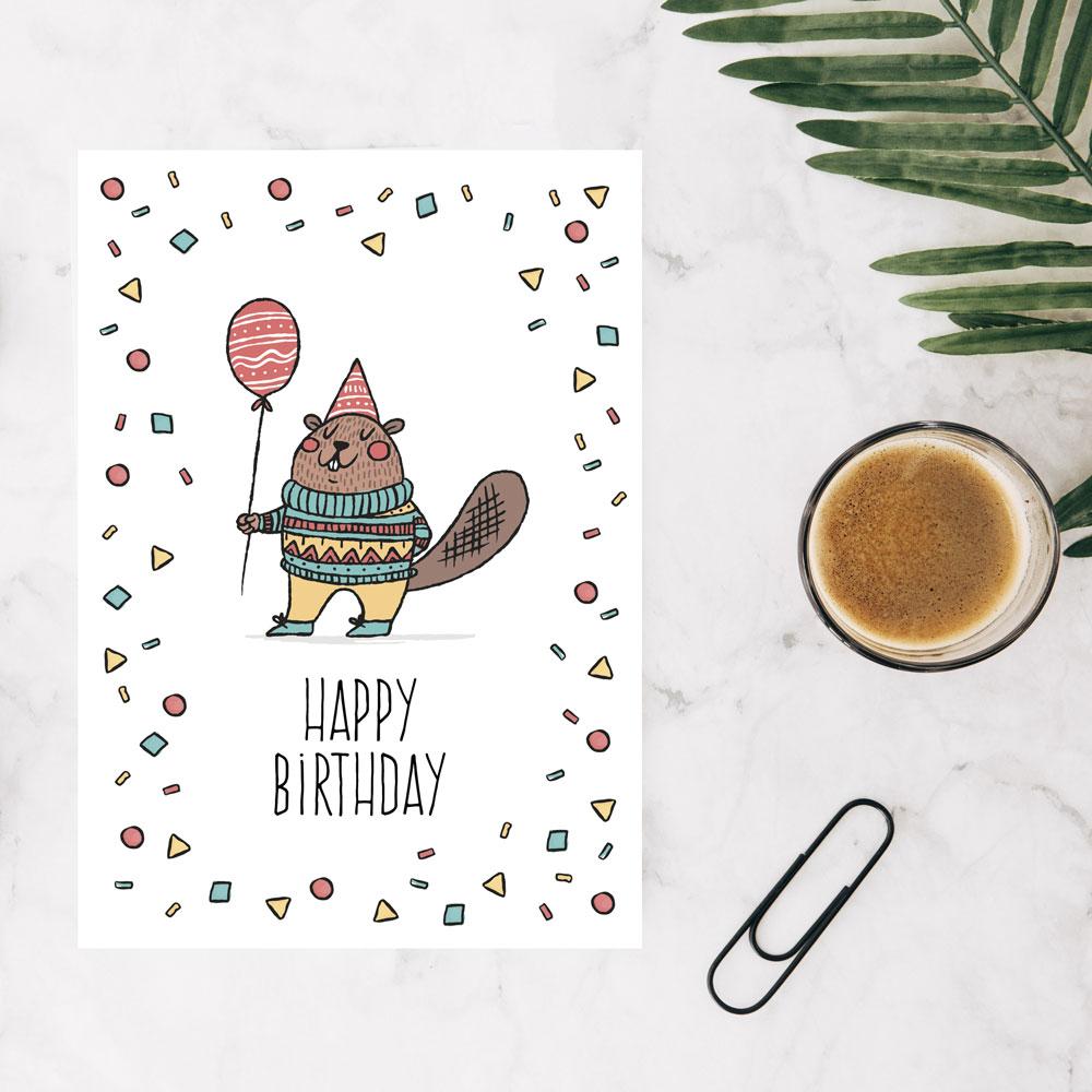 کارت پستال تبریک تولد دوست