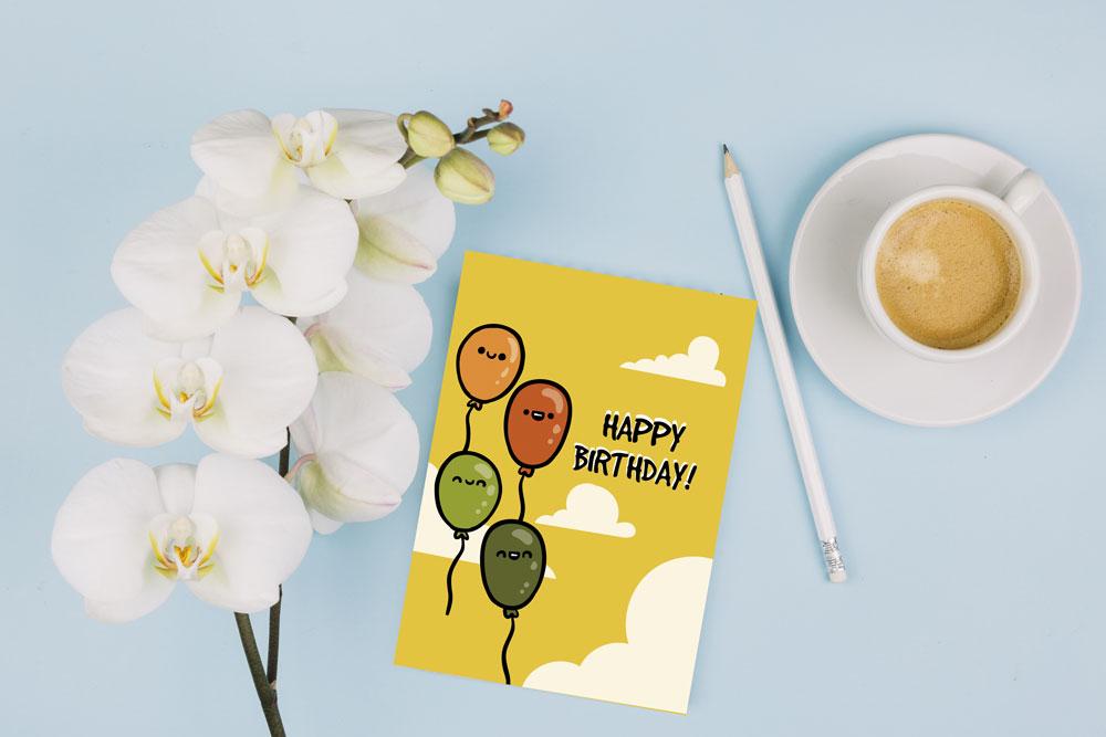 کارت تبریک تولد بادکنکی