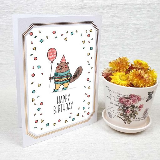 کارت پستال تبریک تولد کد 3327 لوکس