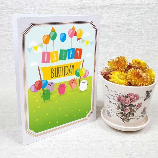 کارت پستال تبریک تولد کد 3331 لوکس