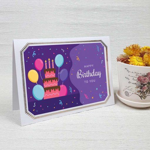 کارت پستال تبریک تولد کد 4451 لوکس