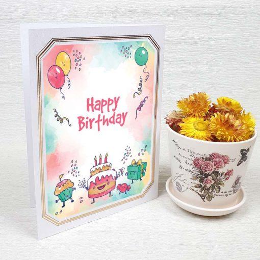 کارت پستال تبریک تولد کد 4456 لوکس