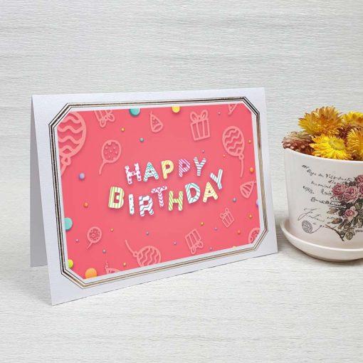 کارت پستال تبریک تولد کد 4460 لوکس
