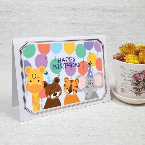 کارت پستال تبریک تولد کد 4463 لوکس