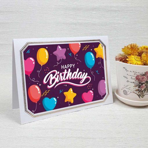 کارت پستال تبریک تولد کد 4464 لوکس