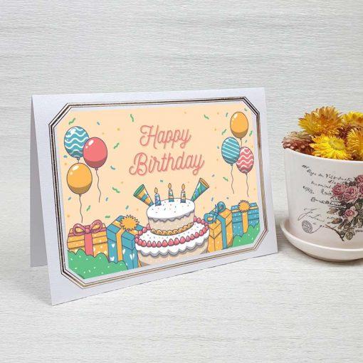 کارت پستال تبریک تولد کد 4465 لوکس