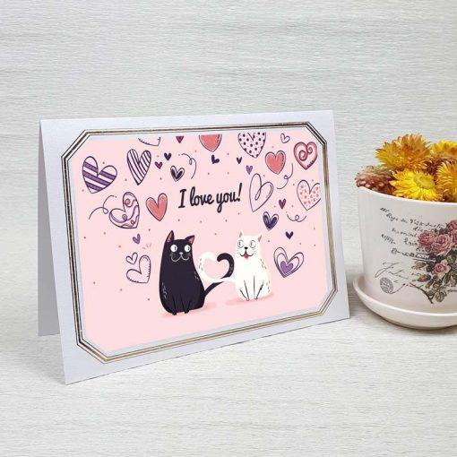 کارت پستال عاشقانه کد 4473 لوکس