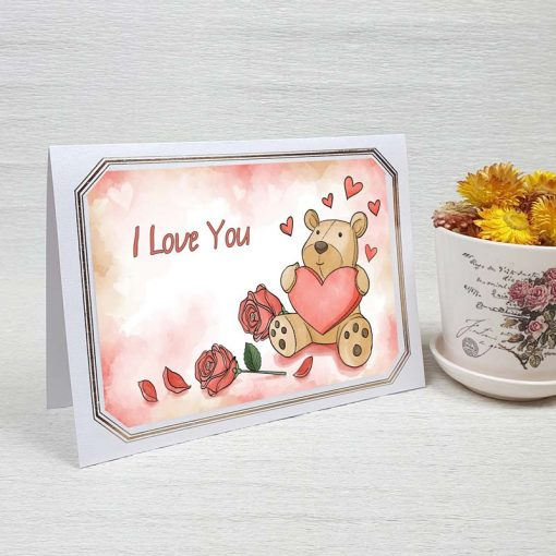 کارت پستال عاشقانه کد 4474 لوکس