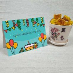 کارت پستال تبریک تولد کد 3322 کلاسیک