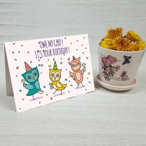 کارت پستال تبریک تولد کد 3325 کلاسیک