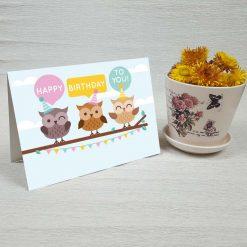 کارت پستال تبریک تولد کد 3326 کلاسیک