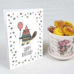 کارت پستال تبریک تولد کد 3327 کلاسیک