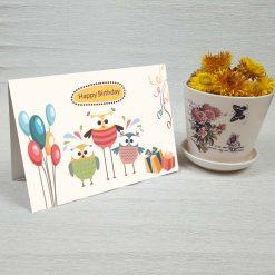 کارت پستال تبریک تولد کد 3328 کلاسیک