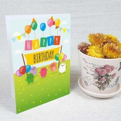 کارت پستال تبریک تولد کد 3331 کلاسیک