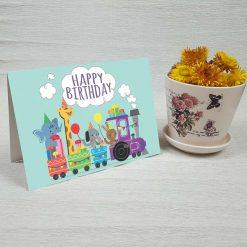 کارت پستال تبریک تولد کد 3333 کلاسیک