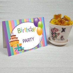 کارت پستال تبریک تولد کد 3334 کلاسیک