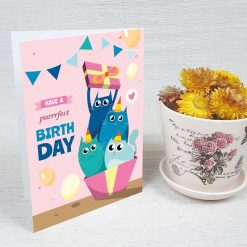 کارت پستال تبریک تولد کد 4251 کلاسیک