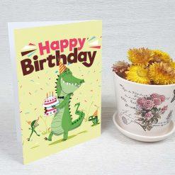 کارت پستال تبریک تولد کد 4252 کلاسیک
