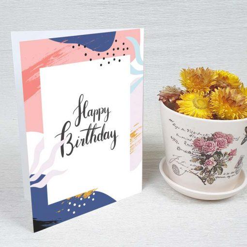 کارت پستال تبریک تولد کد 4322 کلاسیک