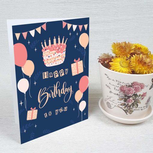 کارت پستال تبریک تولد کد 4323 کلاسیک