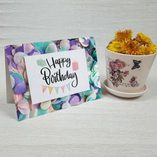 کارت پستال تبریک تولد کد 4325 کلاسیک