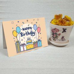کارت پستال تبریک تولد کد 4452 کلاسیک