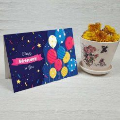 کارت پستال تبریک تولد کد 4453 کلاسیک