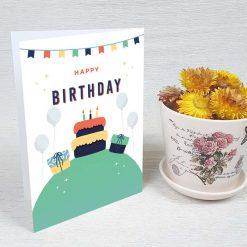 کارت پستال تبریک تولد کد 4455 کلاسیک