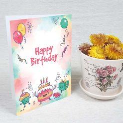 کارت پستال تبریک تولد کد 4456 کلاسیک