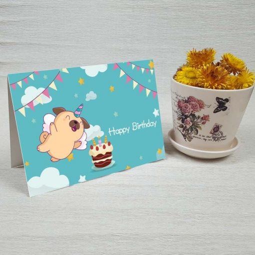 کارت پستال تبریک تولد کد 4457 کلاسیک
