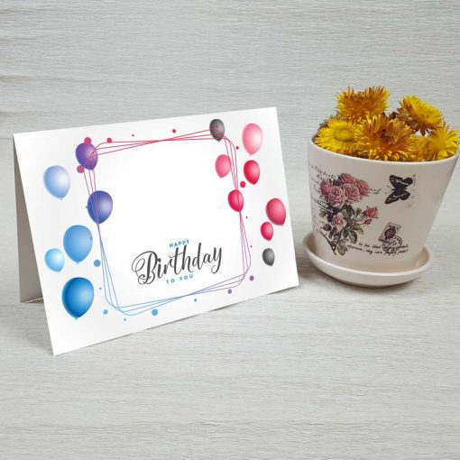 کارت پستال تبریک تولد کد 4458 کلاسیک