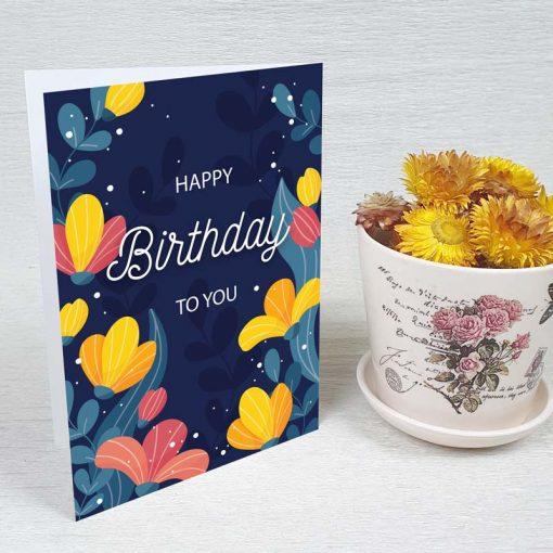 کارت پستال تبریک تولد کد 4461 کلاسیک