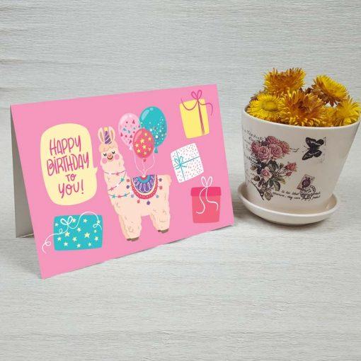کارت پستال تبریک تولد کد 4462 کلاسیک