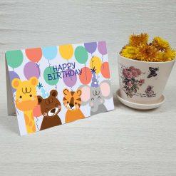 کارت پستال تبریک تولد کد 4463 کلاسیک