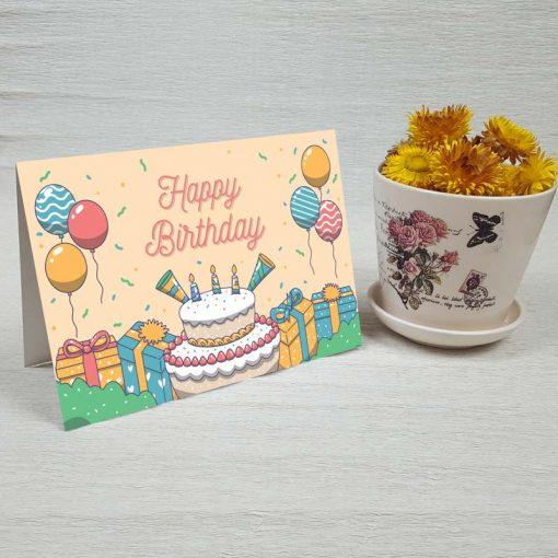 کارت پستال تبریک تولد کد 4465 کلاسیک