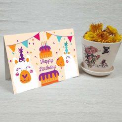 کارت پستال تبریک تولد کد 4466 کلاسیک
