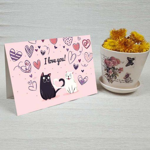 کارت پستال عاشقانه کد 4473 کلاسیک