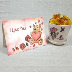 کارت پستال عاشقانه کد 4474 کلاسیک