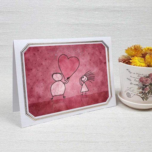 کارت پستال عاشقانه کد 3597 لوکس