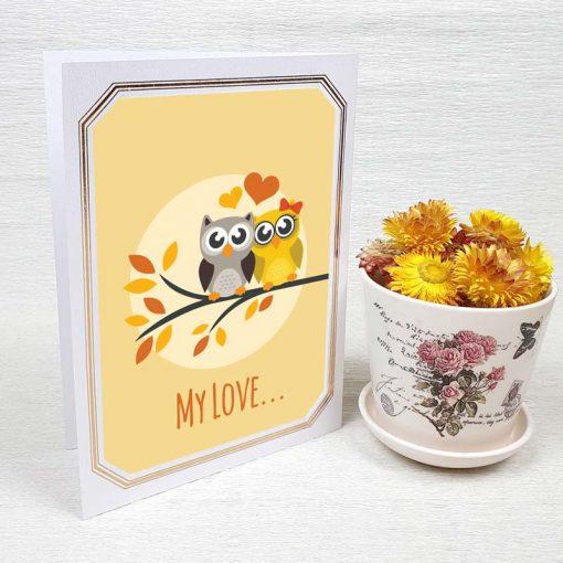 کارت پستال عاشقانه کد 4450 لوکس