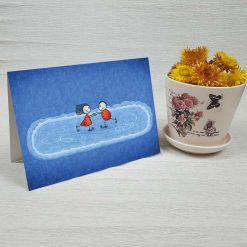 کارت پستال عاشقانه کد 3012 کلاسیک