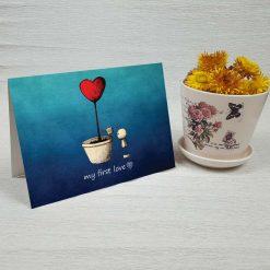 کارت پستال عاشقانه کد 3020 کلاسیک