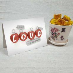 کارت پستال عاشقانه کد 3030 کلاسیک