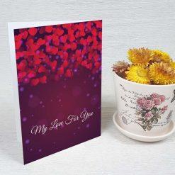 کارت پستال عاشقانه کد 3040 کلاسیک
