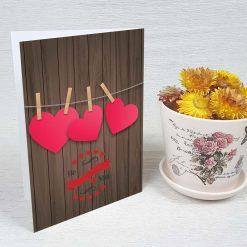 کارت پستال عاشقانه کد 3042 کلاسیک