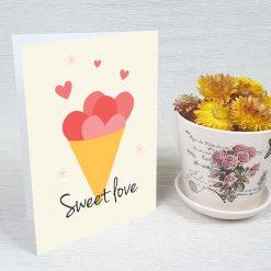کارت پستال عاشقانه کد 3043 کلاسیک