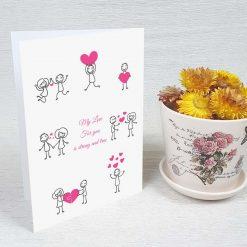 کارت پستال عاشقانه کد 3053 کلاسیک