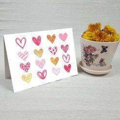 کارت پستال عاشقانه کد 3054 کلاسیک