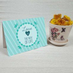 کارت پستال عاشقانه کد 3056 کلاسیک